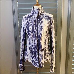 🍋Lululemon Jacket Inkblot Blue & White Size 10